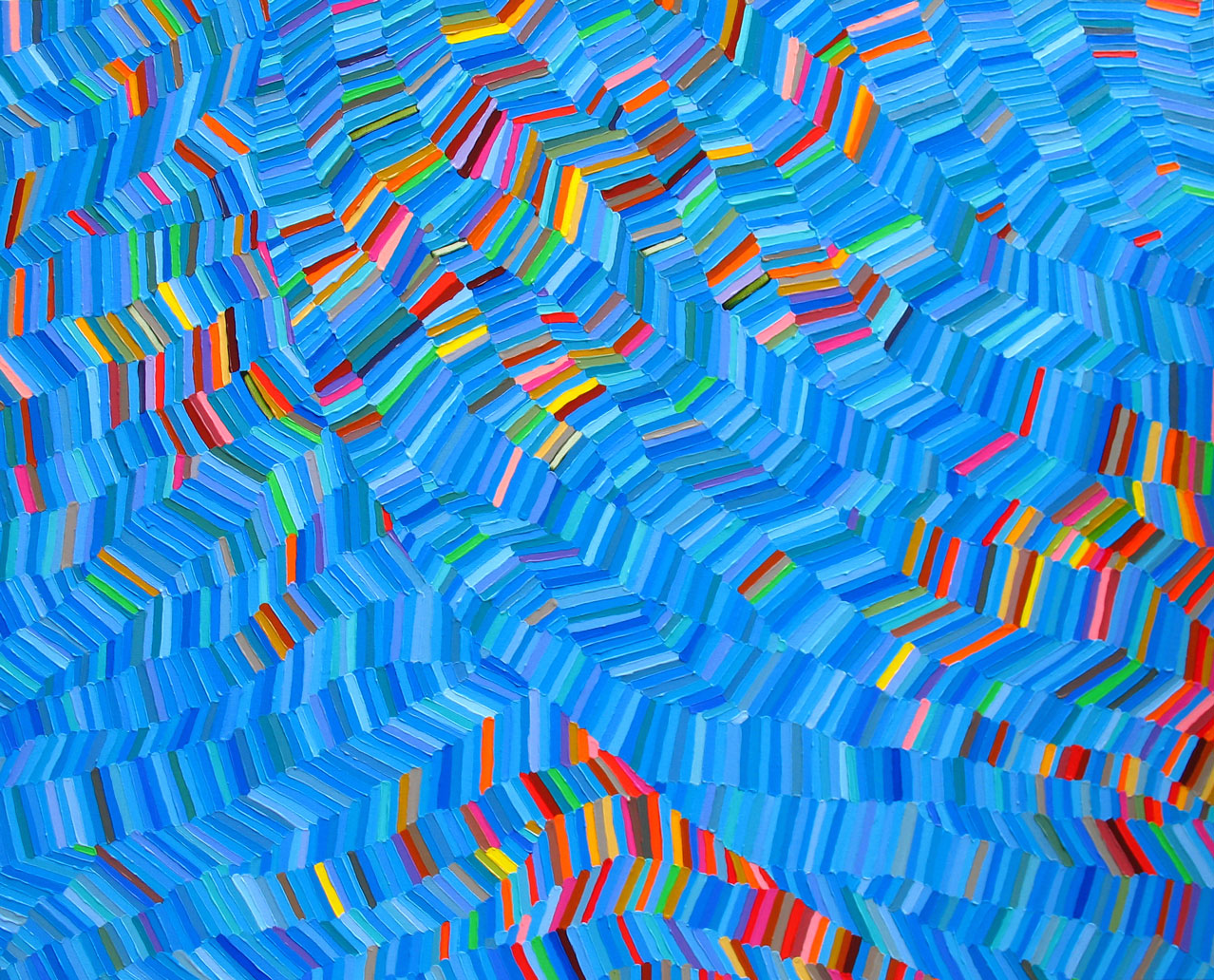 <i>Afloat</i> <br> 60'' x 48'' <br>Acrylic on canvas